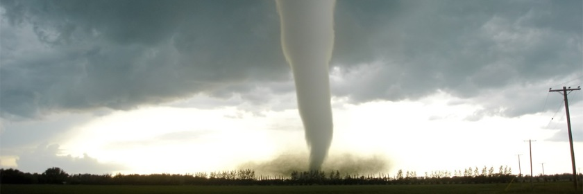 Tornado touches down near Elie, Manitoba In June 2007 Credit: Justin1569/English Wikipedia/Creative Commons